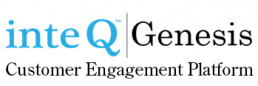InteQ Genesis Logo, Customer Engagement Platform